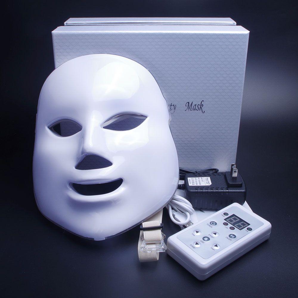 7 Couleurs Lumière Photon Électrique LED Masque Facial Peau PDT Rajeunissement Anti Acné Élimination Des Rides Thérapie Beauté Salon