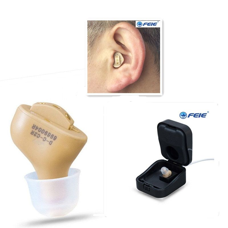 CIC Invisible Rechargeable Hearing Aide With Noise Reduction Ear Sound Amplifier Adjustable Tone for the Elderly S-51 Free Ship