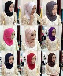 Mode Femmes Lady Coton Crossover Musulman Intérieure Hijab Caps Islamique Underscarf Chapeaux Arabes Chapeaux