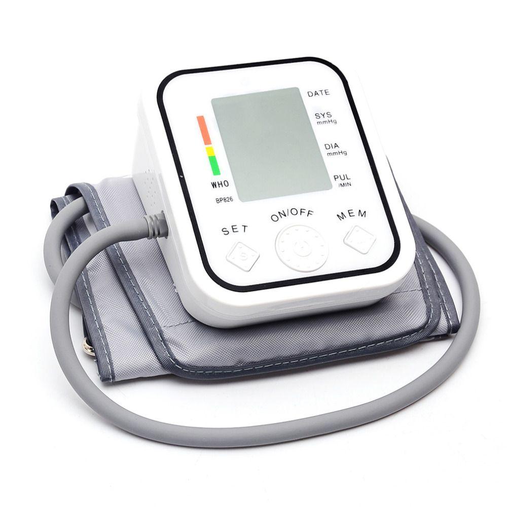 BP826 Digital bp Upper Arm Blood Pressure Monitor Tonometer Meter Health Care Sphygmomanometer Cuff NonVoice Drop Shipping