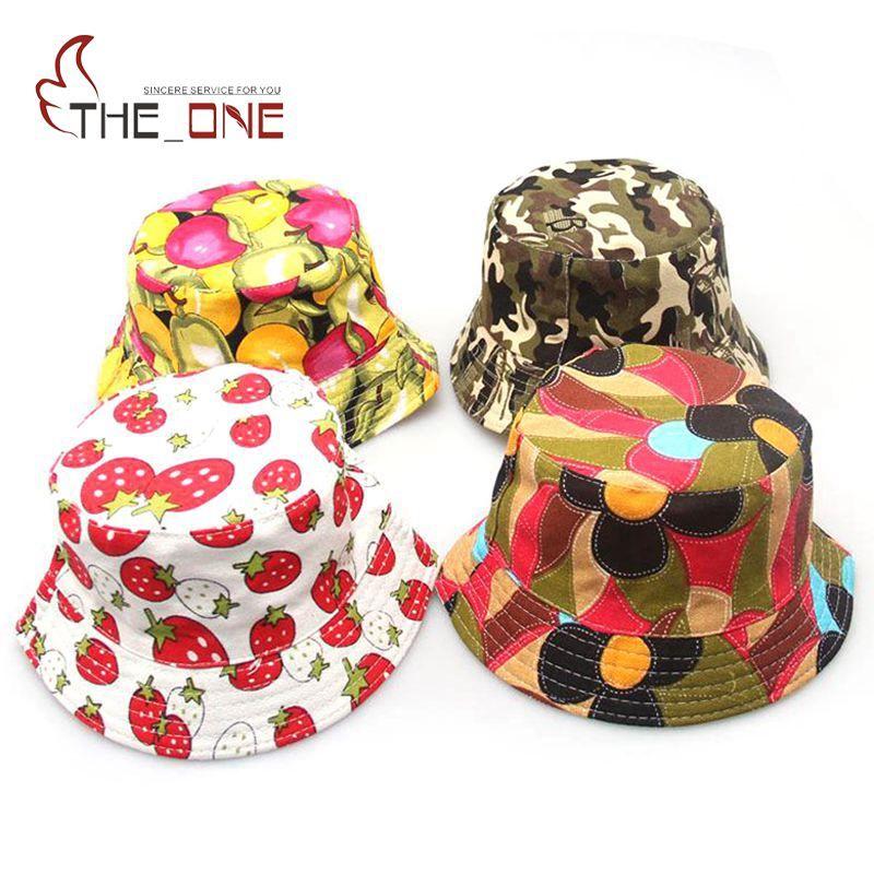 От 2 до 6 лет с мультипликационным принтом для маленьких ведро Защита от солнца Hat Цветочные Детская летняя Панама Кепки s детские Обувь для д...