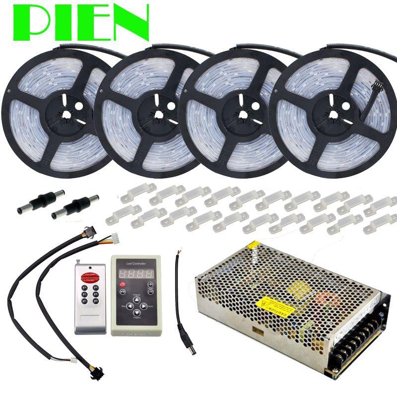Dream color Magic LED Strip RGB 5050 20m 30m 10m 5m Waterproof IP67 133 change + IC6803 RF Controller + Power adapter Free ship