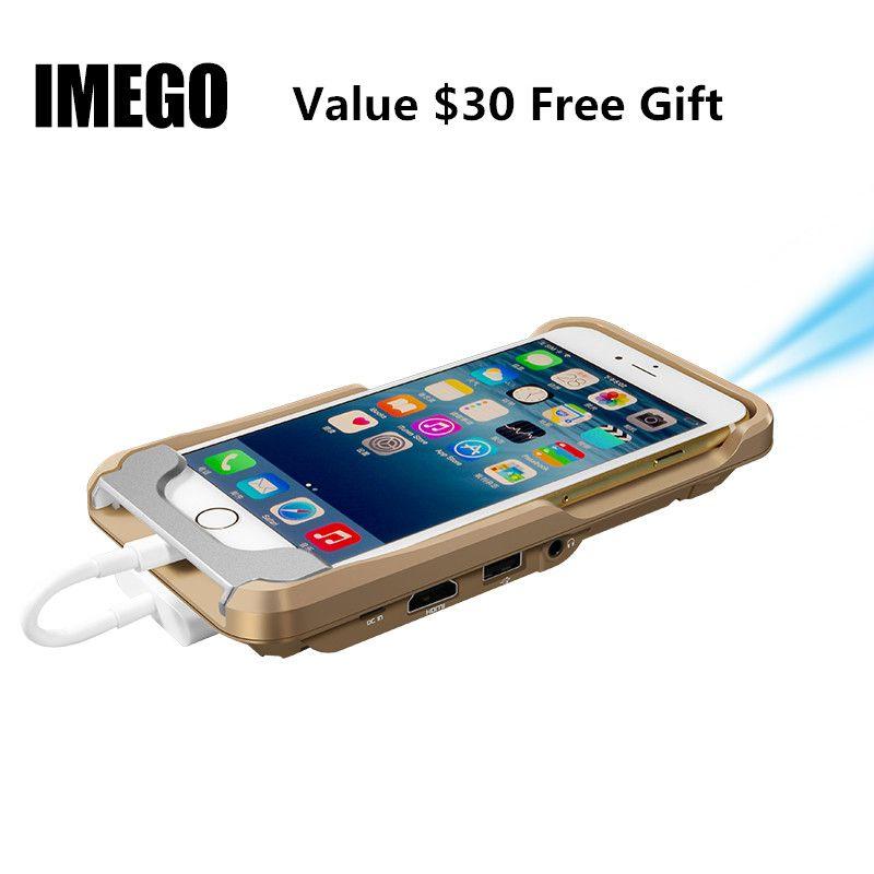 Pico Mini Projecteur LED de Poche DLP Mobile Téléphone 1080 P Home Cinéma Pico Portable Micro HD Pour iPhone X 7 8 Plus iPad Cadeau i60 IOS