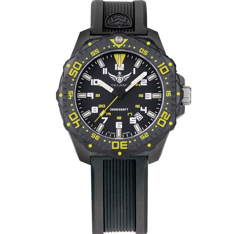 YELANG V2.2 women style tritium gas luminous waterproof sports military diving watch