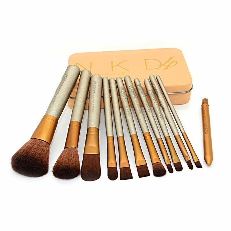 12pcs/set Powder Eyeshadow Lip Brushes Fundation Cosmetics Make Up Brushes Maquiagem Beauty Professional Makeup Tools With Box