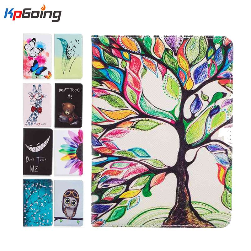 Cute Art Painting Flip leather case cover for new kindle 2016 8th generation fundas for amazon kindle 8 Generation 2016 cases