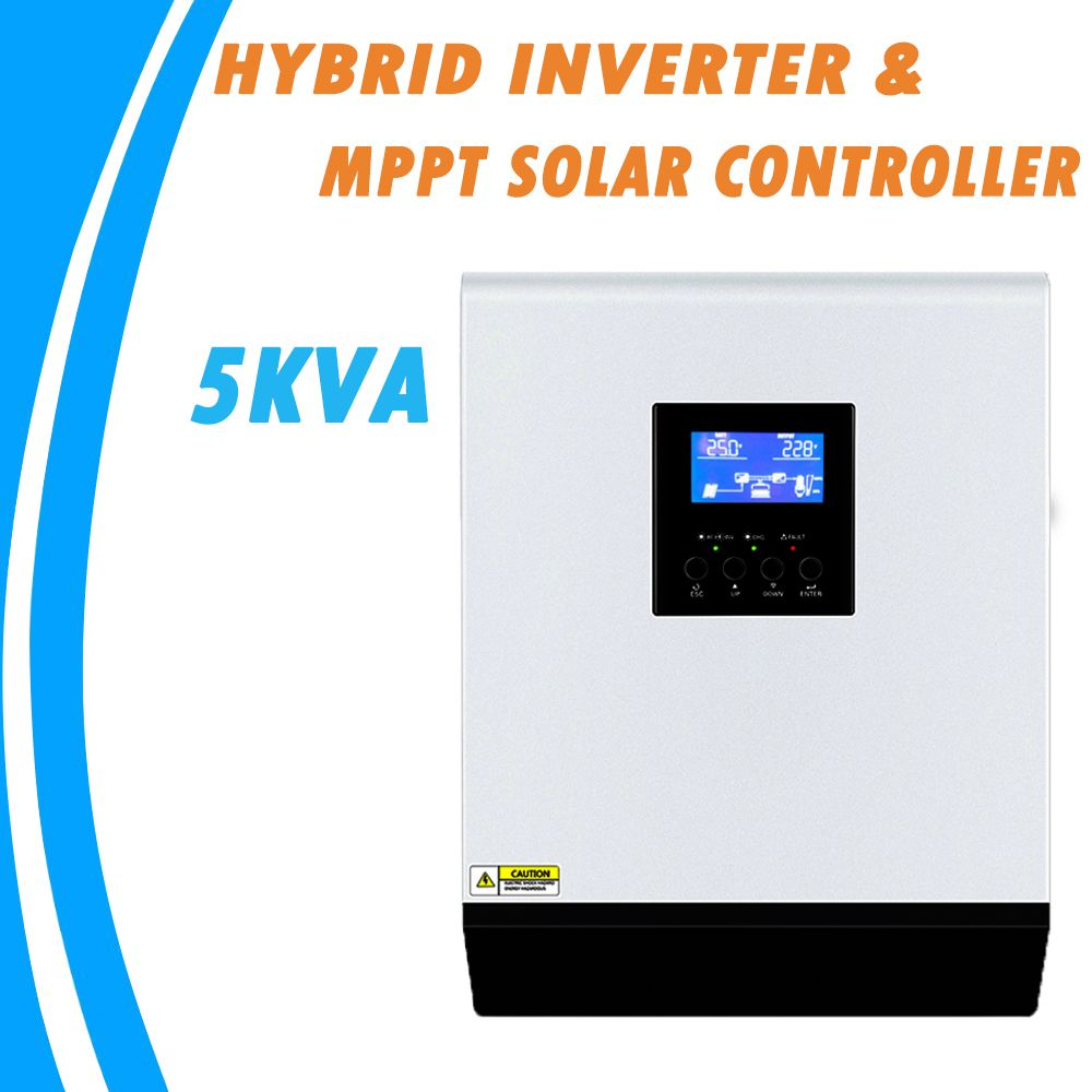 5KVA Reine Sinus Welle Hybrid Inverter 48 V 220 V Eingebaute MPPT 60A PV Laderegler und AC Ladegerät für heimgebrauch MPS-5K