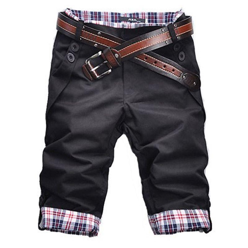 High Quality Men's Shorts 2019 Summer Mens Shorts Casual Slim Fit Short Men Streetwear Cargo Shorts Man Clothes Knee Length