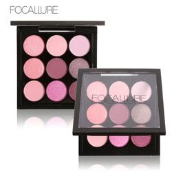Focallure 9 Warna Makeup Eyeshadow Palet Makeup Eyeshadow Palet Matte & Shimmer Smoky Eye Shadow Palet