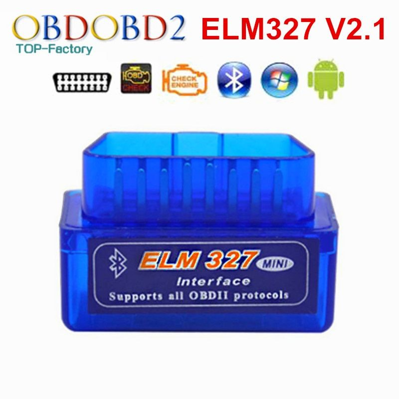 2017 Super Mini ELM327 Bluetooth V2.1 OBD2 Car Diagnostic Tool Mini ELM 327 Bluetooth For Android/Symbian For OBDII Protocols