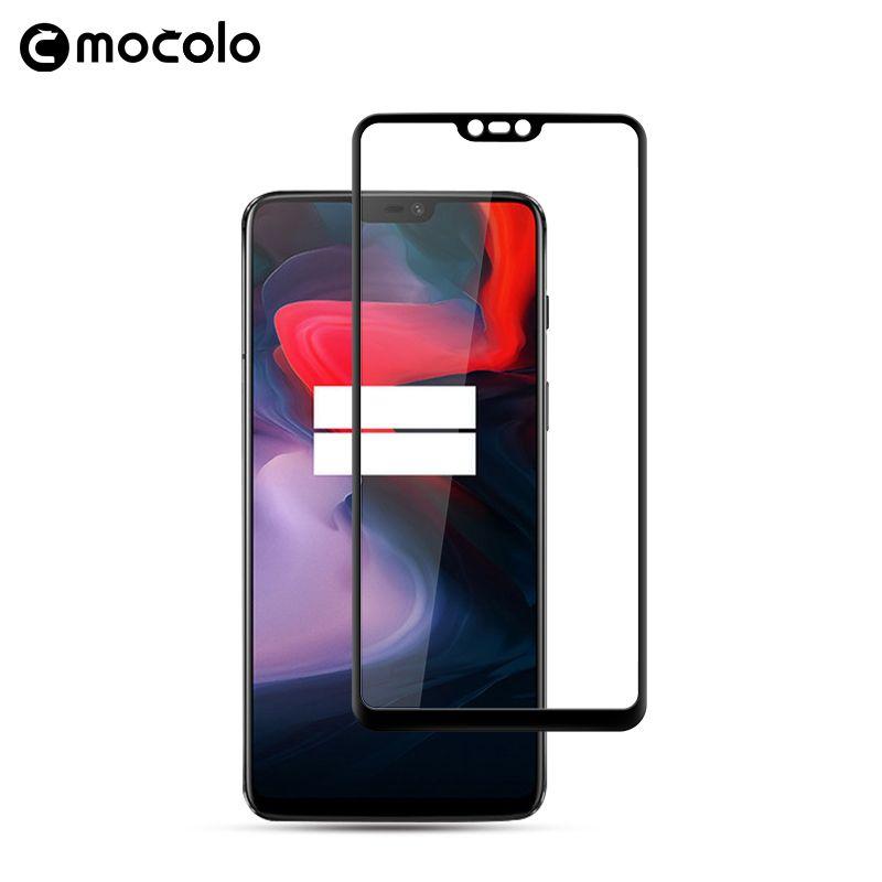 Pour Oneplus 6 protecteur d'écran Mocolo bord incurvé HD pour Oneplus 6 5D Film de verre pour Oneplus 6 verre trempé protecteur d'écran