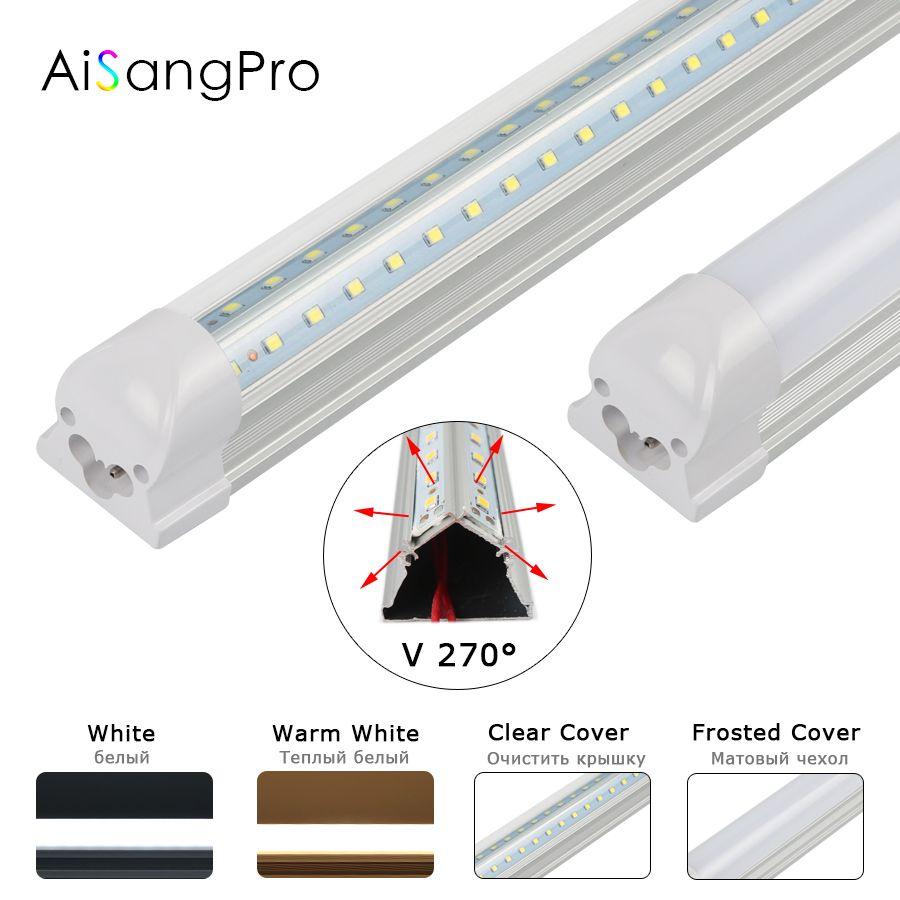 V-Shaped Integrate 2ft T8 Led Tube 600mm 20W 110V 220V Led Tube Light Fluorescent Lights Room Cooler Home Led Energy Saving Lamp