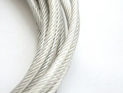1.2MM, 1.5MM 30M, 7X7, 304 stainless steel wire rope with PVC coating softer fishing coated cable clothesline traction rope lift