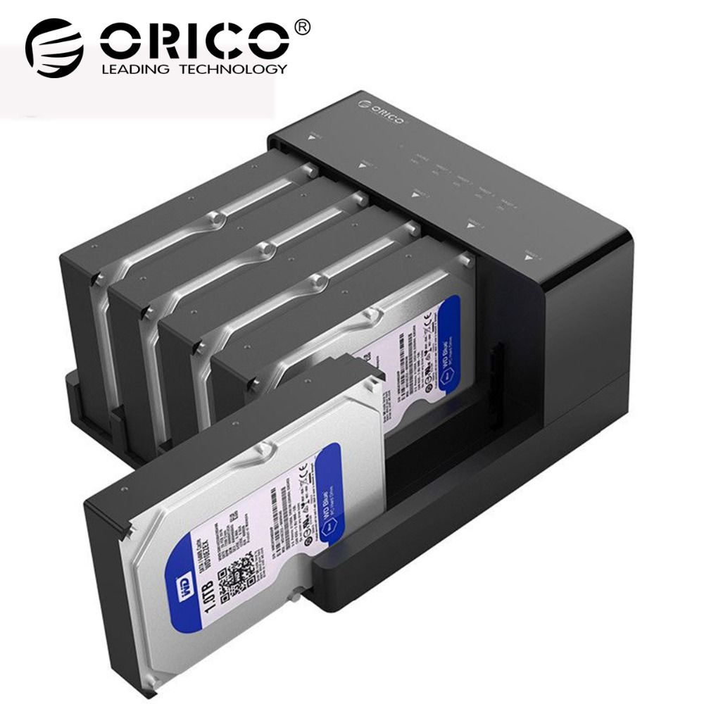 ORICO 5 Bay 2.5/3.5 inch SATA to USB3.0 HDD Docking Station Super Speed USB 3.0 Hard Disk Drive Enclosure Support 10TB HDD Case