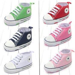 Nuevo lienzo zapatillas de deporte clásicas recién nacido bebé niños muchachos primeros caminantes Zapatos Infantiles del niño suave suela antideslizante bebé zapatos