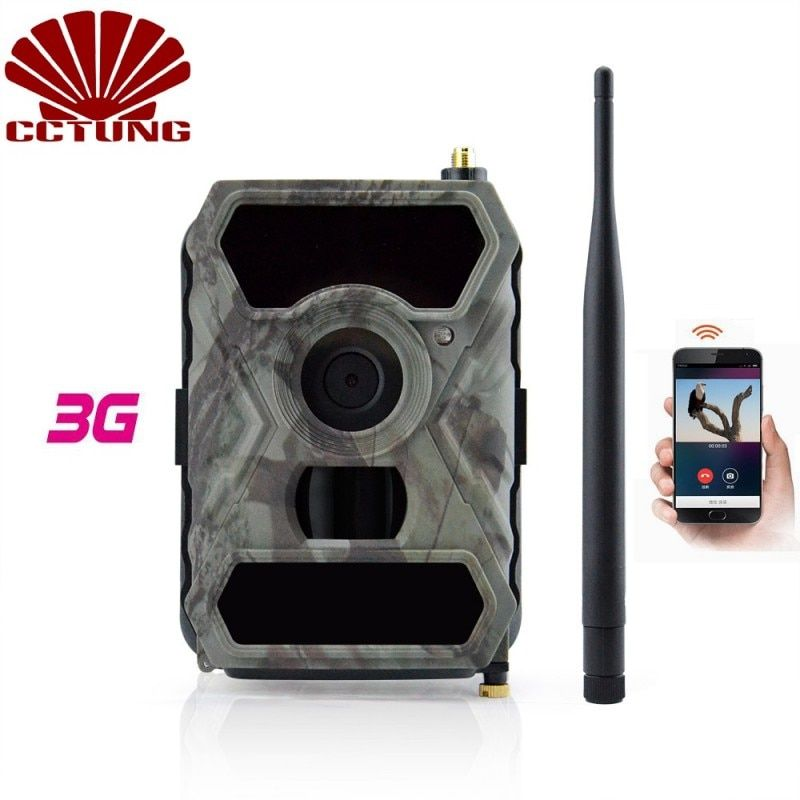 3G Mobile Trail Camera with 12MP HD Image Pictures & 1080P Image Video <font><b>Recording</b></font> with Free APP Remote Control IP54 Waterproof