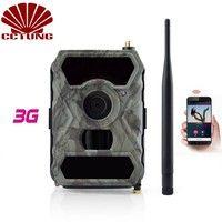 3G móvil Cámara sendero con 12MP imagen HD y fotos y 1080 p imagen grabación de vídeo gratuito Control remoto APP IP54 impermeable