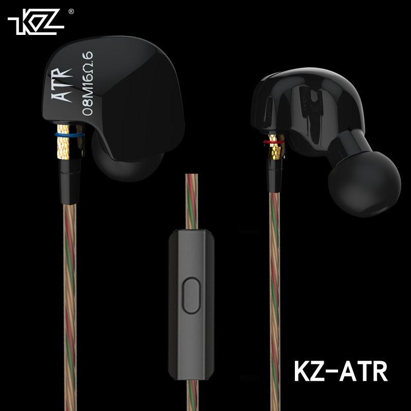 Earphone 2016 New Arrival Original KZ ATR 3.5mm In Ear Mic Earphones HIFI Metal Auriculares Earphones Super Bass Fone De Ouvido