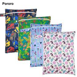 30*40 cm PUL imprimé poche unique sac à couches, étanche humide sac, bébé à langer sacs seau doublure, sac à linge pour bébé couches lavables