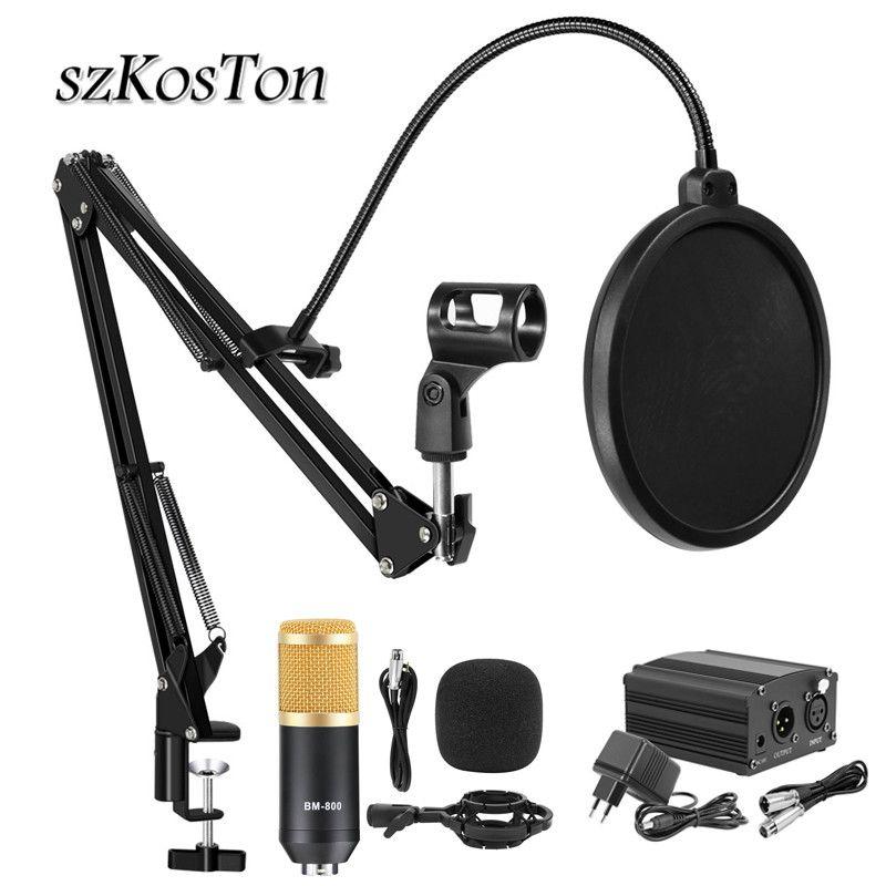 Bm 800 Studio Microphone professionnel karaoké condensateur Microphone Kits bm800 Microfone pour ordinateur en direct diffusion enregistrement