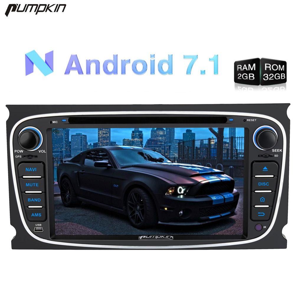 Pumpkin2 Din7 Android 7.1 Auto DVD Player GPS Navigation Quad-core 2G RAM 32G ROM Stereo Für ford Mondeo/Fokus Wifi FM Rds Radio