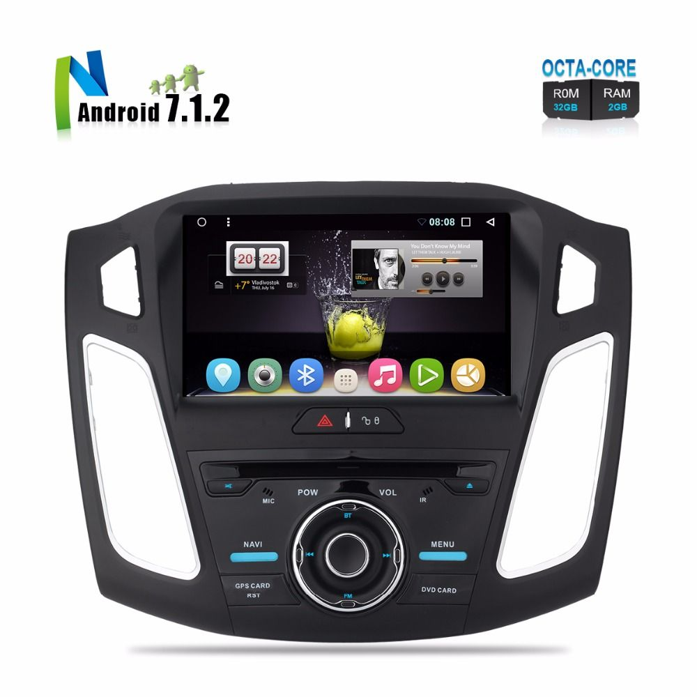 In stock Brand New Android 7.1 Car DVD For 2012 2013 2014 2015 Focus Auto Radio Stereo GPS Glonass Navigation 9