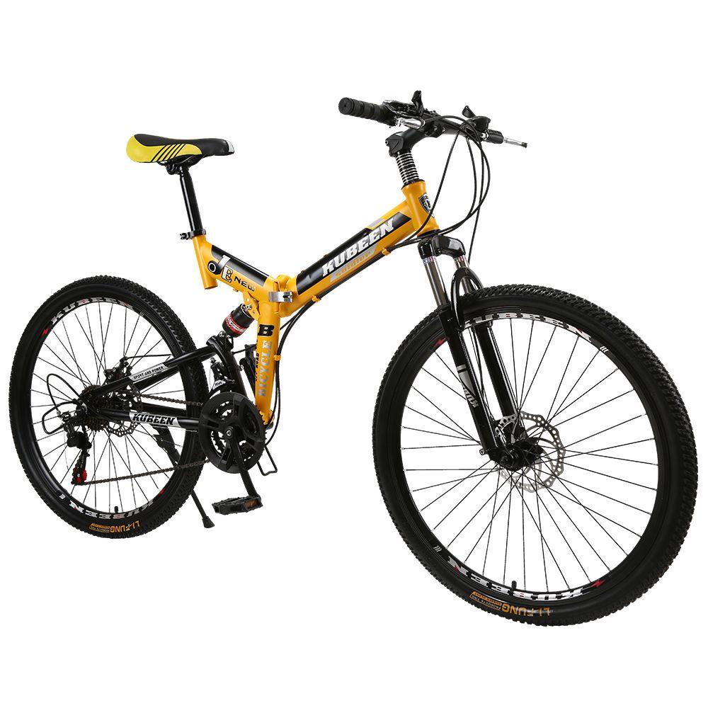 KUBEEN mountain bike 26-inch steel 21-speed bicycles dual disc brakes variable speed road bikes racing bicycle BMX Bike
