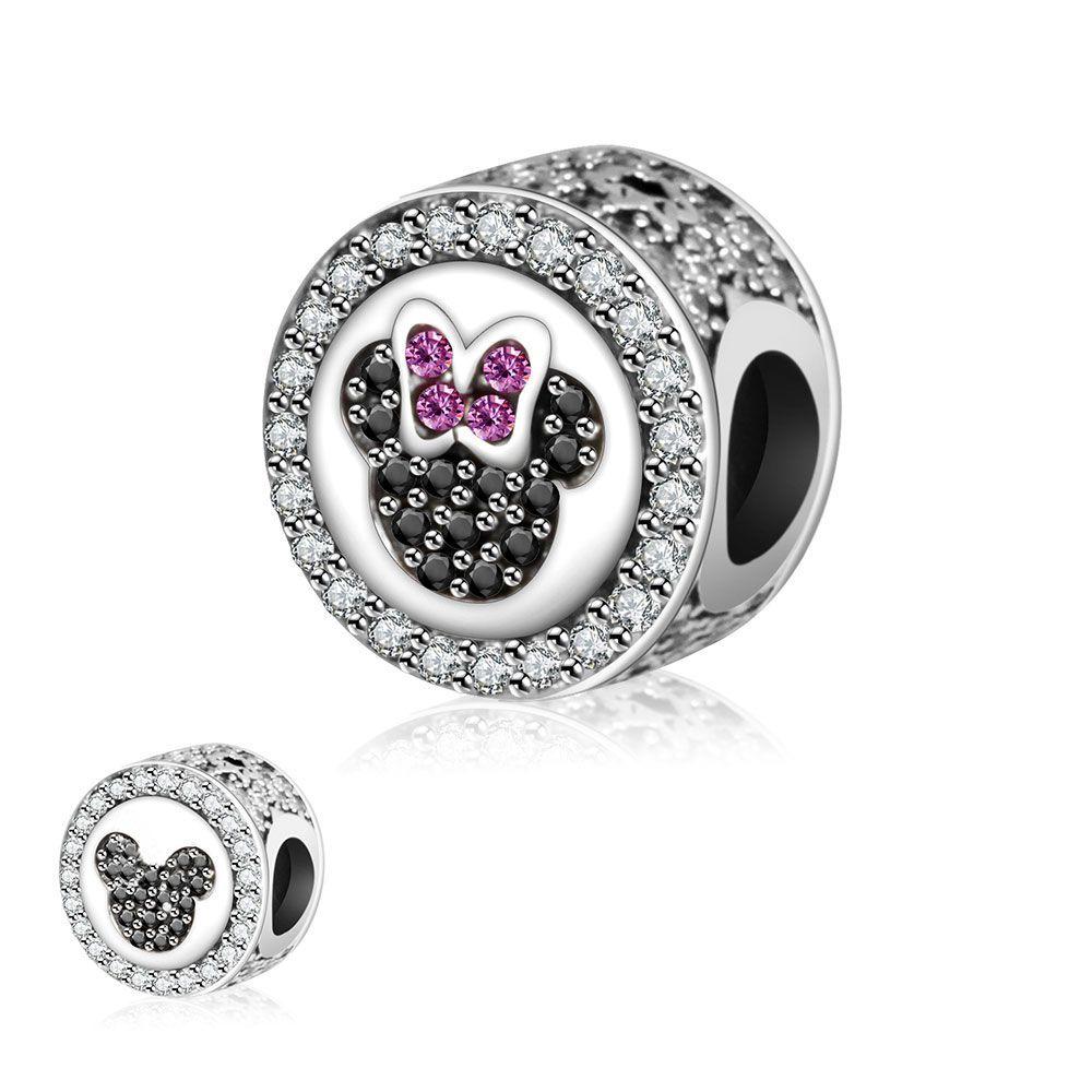 Fit Original Pandora charmes Bracelet de perles 2016 automne vraiment 925 argent Sterling charme Minnie Mickey bijoux à bricoler soi-même faire Berloque