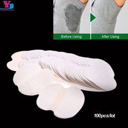 100 unids (50 pares) Armpit sweat pads verano desechable underarm absorber anti transpiración desodorante unisex escudo al por mayor