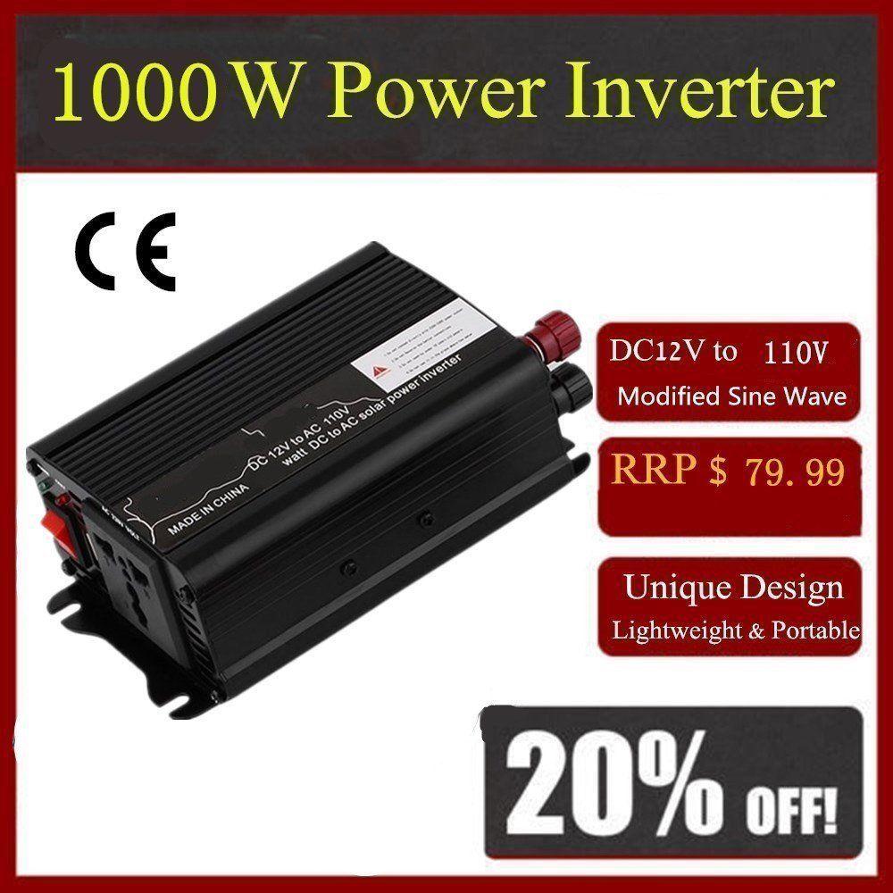 2017 Universal Peak Power 2000W DC 12V AC 110V Car Converter Power Inverter Electronic