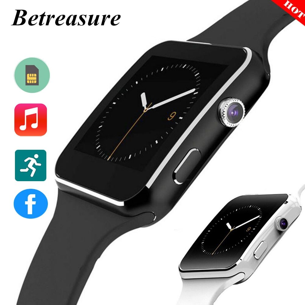 Betreasure HOT X6 Smart Watch Bluetooth Camera With 8G SIM/TF Card SmartWatch For Android IOS Phone PK A1 GT08 Watch