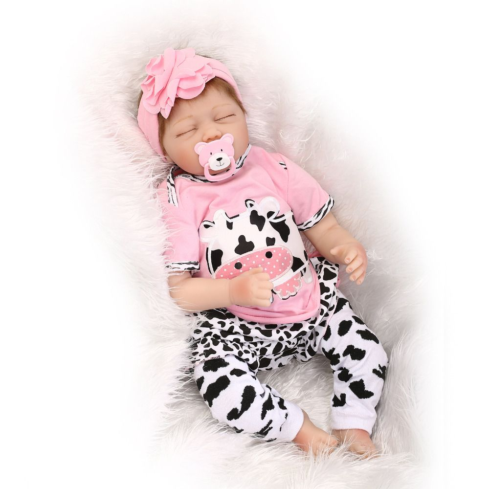 55cm Silicone Vinyl Reborn Baby Doll Toys Lifelike Soft Cloth 22