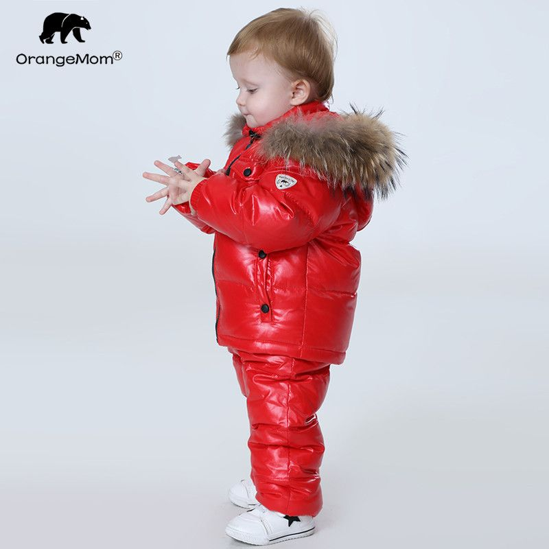 Orangemom Russia Winter children's clothing sets , <font><b>girls</b></font> clothes for new year's Eve boys parka jackets coat down snow wear