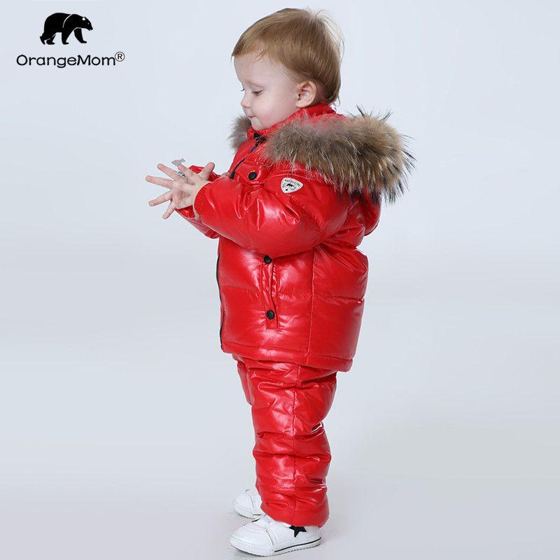 Orangemom Russland Winter kinder kleidung sets, mädchen kleidung für neue jahr der Eve jungen parka jacken mantel unten schnee tragen