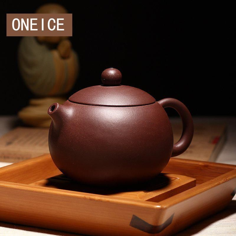 Chinese Yixing Xishi Tea Pot Kungfu Hand Made Potato Pot Dahongpao Mud Tea Set Teapots Author Shao Junya 188 Ball Hole