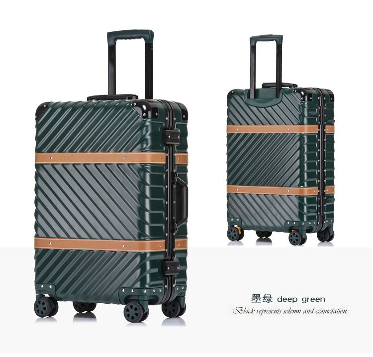 Pure metal full magnesium aluminum alloy suitcase for men and women 20/24/29 inch trolley case boarding luggage travel suitcase