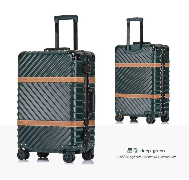 Reines metall volle magnesium aluminium legierung koffer für männer und frauen 20/24/29 zoll trolley internat gepäck reise koffer