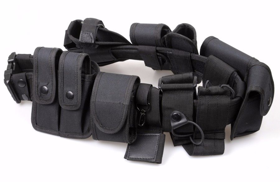Multifunctional outdoor Training Police duty belt Security Belts Holster Magazine Pouch Set Black Airsoft Tactical Belt