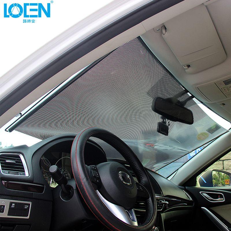 1PCS 40/45/50/58/60/68*125CM Black Car Window Sun Shade Curtain Visor Shield front back Car Windshield Sunshade Retractable