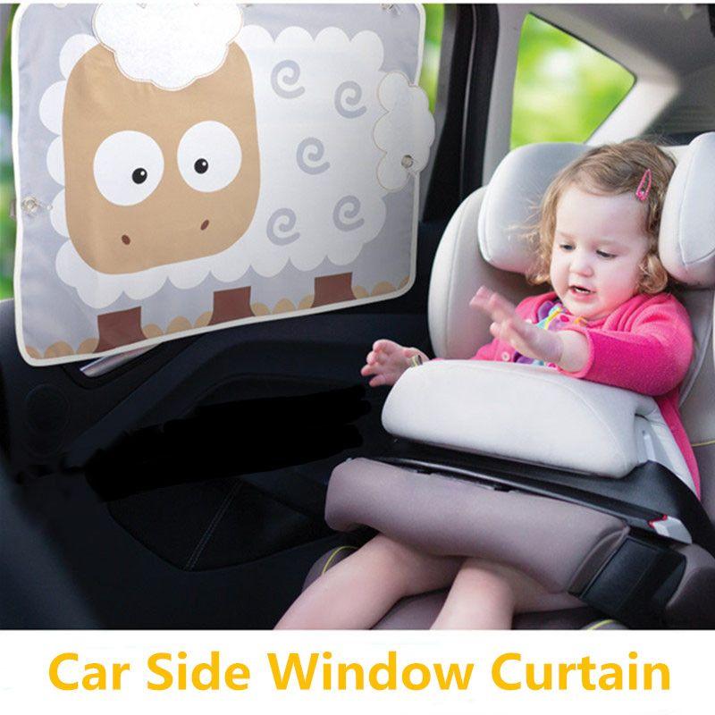 Bande dessinée De Voiture Rideaux Pare-soleil Côté Arrière Windows Protection Pour Enfant Enfants Garçons Filles Agneau Anti UV Auto Rideau Enfants