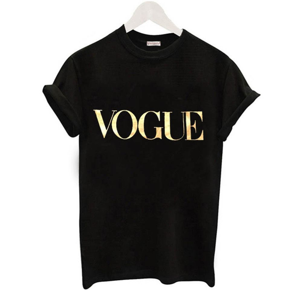 Fashion2018 Summer Shirt For Women VOGUE t-shirt With Print Tops For Women Tee New Arrival Sales Leader Harajuku Women's T-Shirt