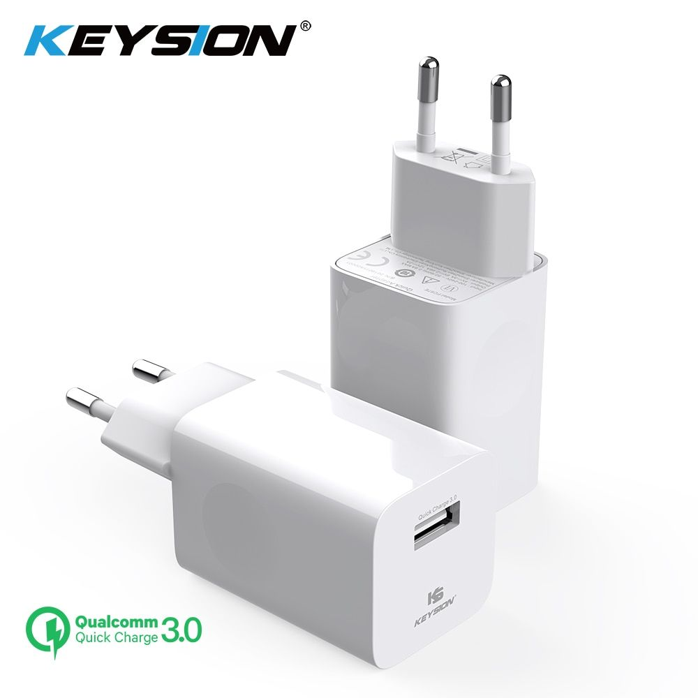 KEYSION 24W Quick Charge 3.0 USB Charger QC3.0 Travel Wall Mobile Phone Charger for iPhone Huawei Xiaomi 12V 2A Fast Charging