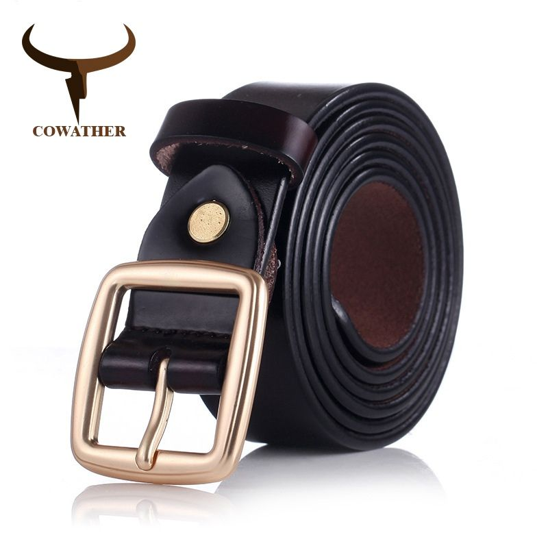 COWATHER 2016 women belts cow genuine leather pin buckle for women newest design vintage style belt high quality original brand