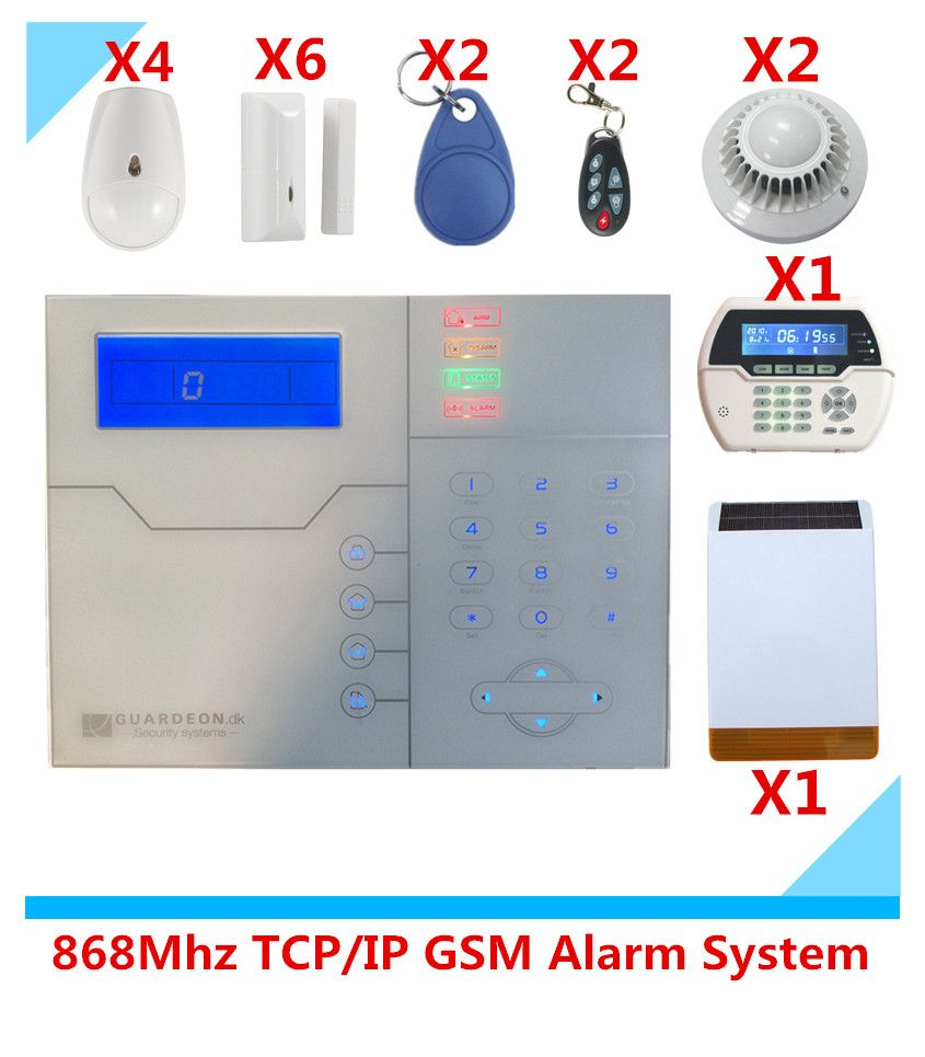 Best Selling Alarm TCP/IP Burglar GSM Alarm System Security Home Alarm System GPRS Alarm System with RFID tag Function