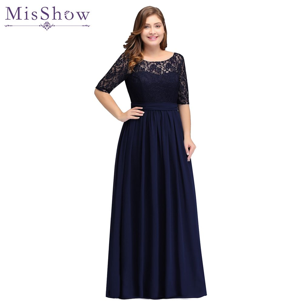 Cheap party evening dresses 2018 Mother of the Bride dresses Chiffon Lace Plus size Long Evening gown Backless dress with Bow