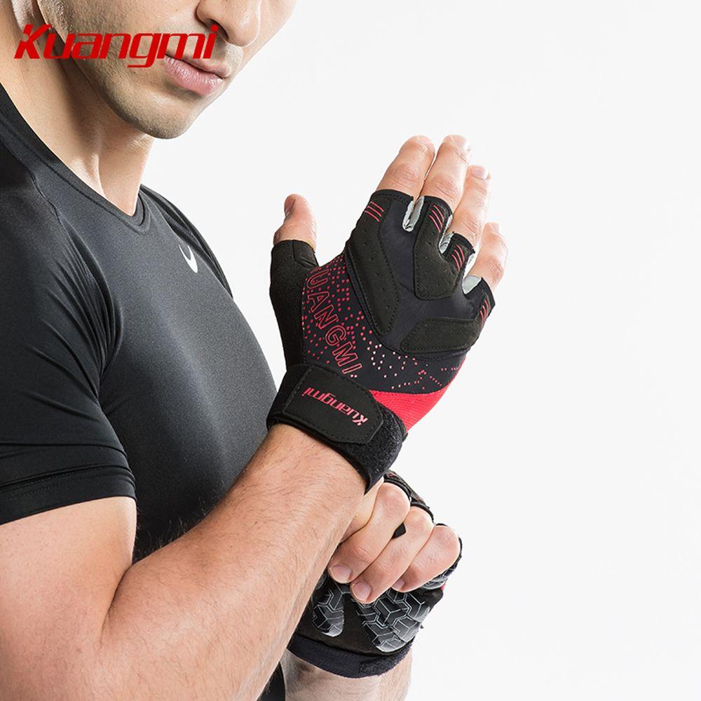 Kuangmi 1 paire Crossfit gants de Fitness haltères haltérophilie gants d'entraînement demi doigt cyclisme mitaine gym luva gant de fitness