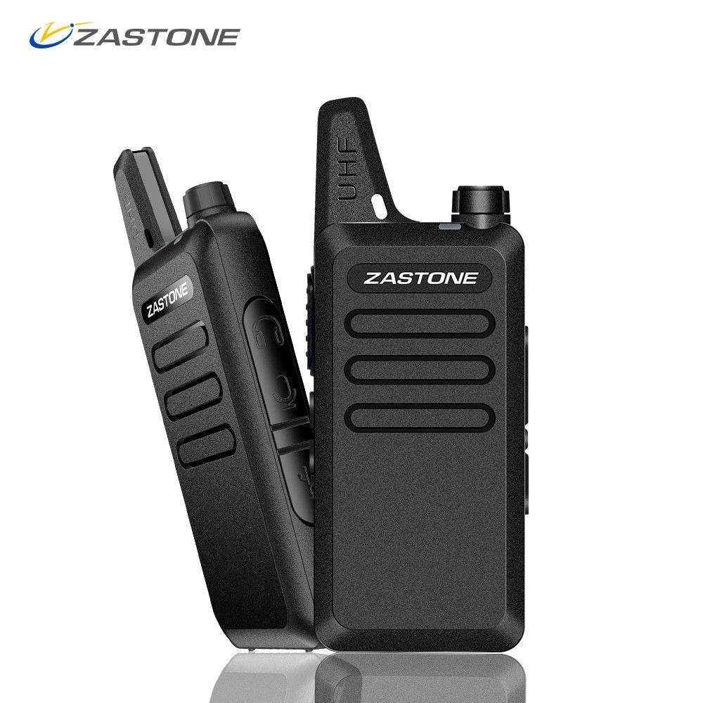 Zastone X6 Mini Walkie Talkie Pair Headset UHF 400-470 mhz Frequency Portable Handheld Radio Comunicador Two-Way Ham Radio