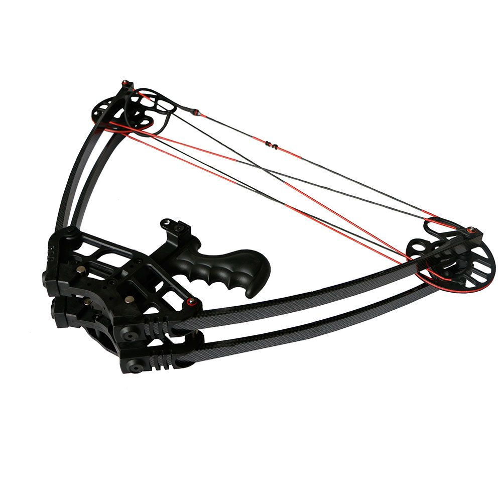 1 piece archery aluminum triangle bows and arrows 50lbs mini compound bow