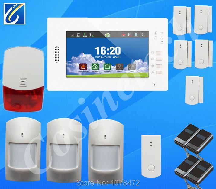 Classic DIY GSM850/900/1800/1900Mhz 868MHZ alarm system with detailed menu,friendly interface,Lithium battery Home alarm panel