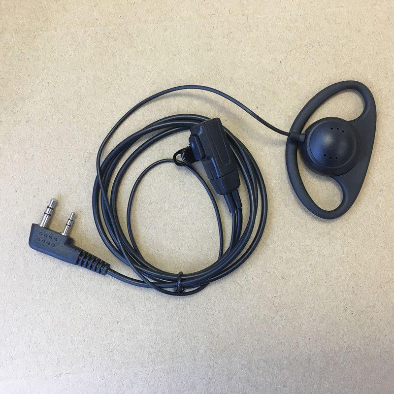 D forme casque écouteur pour Kenwood baofeng bf uv5r, qusheng TGUV2, puxing, tonfa tyt, linton weierwei etc talkie takie